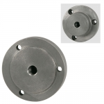 "Chuck Adapter, 1/2""-20 Thread 3"" Diameter, 3 Holes"