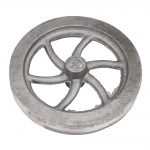 "Flywheel, 4-1/2"" Diameter, 6 Curved Spokes"