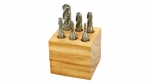 End Mill Set, 6 Piece 4 Flute Ball, HSS
