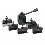 Quick Change Tool Post Set, 0XA, Horizontal Cut-Off