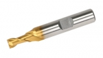 "End Mill, 1/4"" 2 Flute, M42 Cobalt TiN Coated"