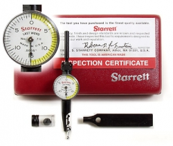 Starrett Last Word indicators, micrometers, squares, edge finders, calipers, and saw blades
