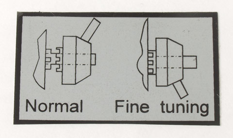 Label, Z-Axis Fine Feed