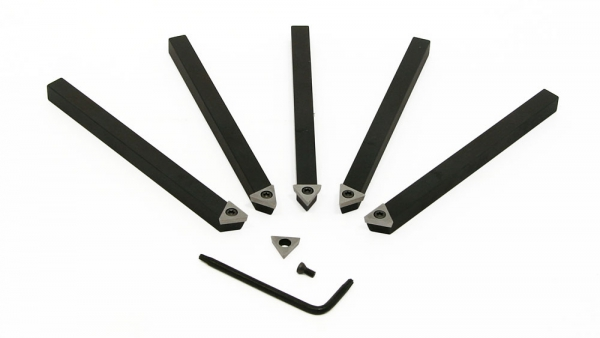 "Turning Tools, 1/4"" Indexable, HSS Triangle Inserts, A R Warner Kit #1"