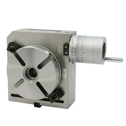 Four inch Precision Rotary Table; vertical orientation