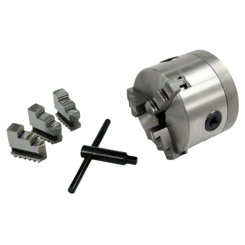 "Lathe Chuck, 3-Jaw 4"", with Adapter"