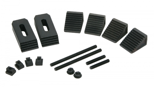 Clamping Kit, 6 mm T-Slot, 16-Piece