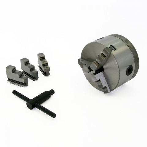 "Lathe Chuck, 3-Jaw 5"" with Adapter"