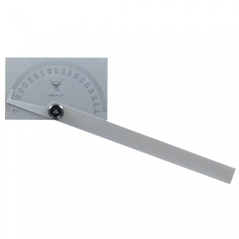 Protractor, Rectangular Head, PEC