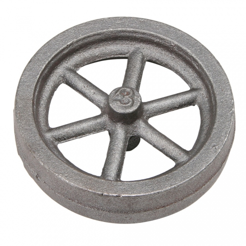 "Flywheel, 3"" Diameter, 6 Straight Spokes"
