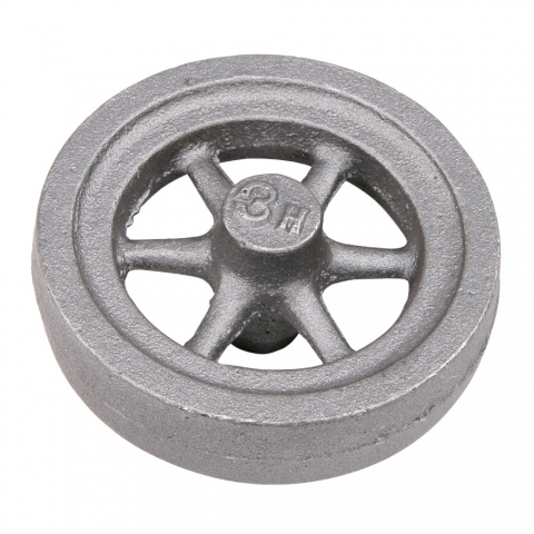 "Flywheel, 3"" Diameter, 6 Heavyweight Straight Spokes"