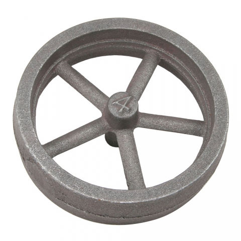 "Flywheel, 4"" Diameter, 5 Straight Spokes"