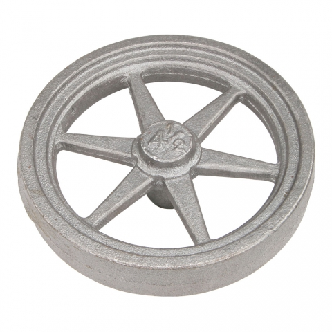 "Flywheel, 4-1/2"" Diameter, 6 Tapered Spokes"