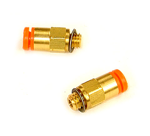 Air Fitting, 1/8 Tube to 10-32 Male Connector