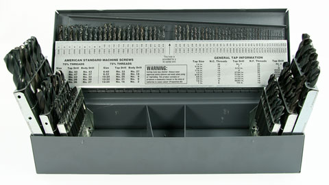 Drill Set, 115 Piece Screw Machine Length HSS