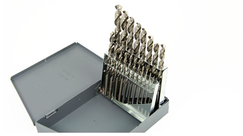 Drill Set, 19 Piece Metric Jobber Length HSS