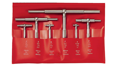 "Telescoping Gage Set, 6-Piece 5/16 - 6"", Starrett"
