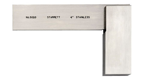 "Square, 4"" Toolmakers, Starrett"