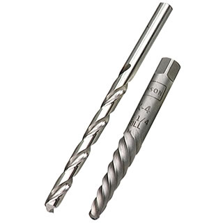 Screw Extractor & Drill Bit, #4 Spiral