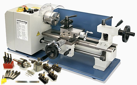 HiTorque 7x12 Mini Lathe with Tooling Package