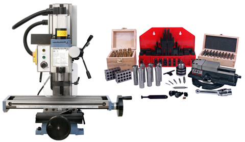 HiTorque Mini Mill, Solid Column with Tooling Package