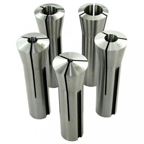 Collet Set, R8, Set of 5