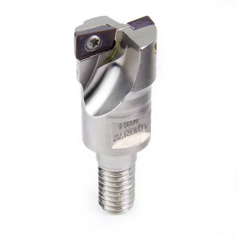 Indexable End Mill, 2 Flute, 17 mm, Center Cut, Tormach