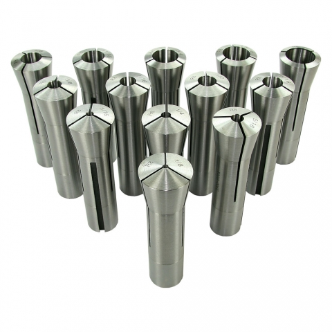 Collet Set, R8, Set of 13, Professional Grade