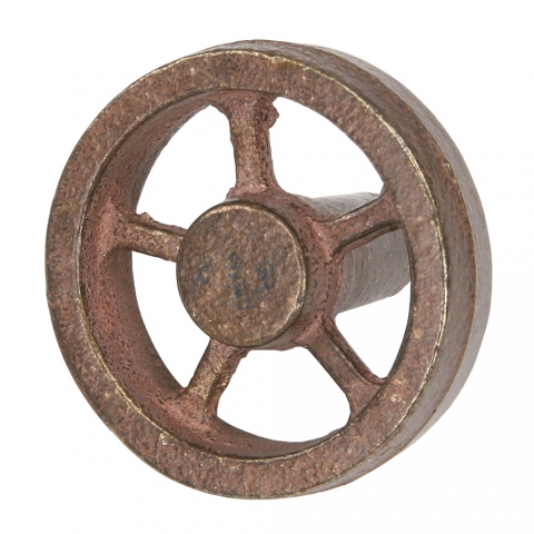 "Flywheel, 2"" Diameter, 5 Straight Spokes, Bronze"