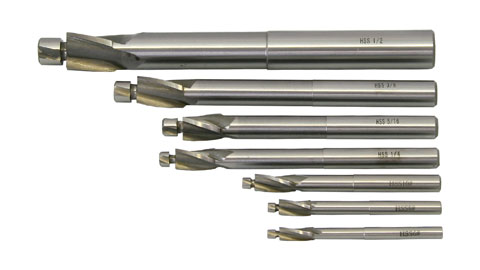 Counterbore Set, 3 Flute HSS, Set of 7