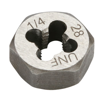 "Die, Hex, 1/4""-28 Thread"