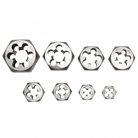 "Die Set, 1/4 - 3/4"" Rethreading, Hexagonal"