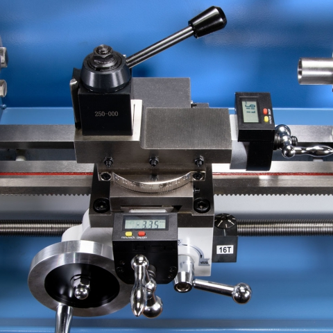 HiTorque 7x16 Deluxe Mini Lathe - DRO on Compound and Cross Slide