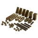 "Clamping Kit, 6 mm & 1/4"" T-Slot, 42-Piece"