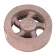 "Flywheel, 2"" Diameter, 5 Heavyweight Curved Spoke, Bronze"