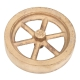 "Flywheel, 3"" Diameter, 6 Straight Spokes, Bronze"