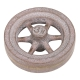 "Flywheel, 3"" Diameter, 6 Heavyweight Straight Spokes, Bronze"