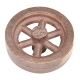 "Flywheel, 2-1/2"" Diameter, 6 Straight Spokes, Bronze"