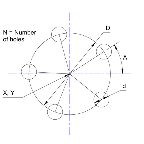 Bolt Circle Calculator
